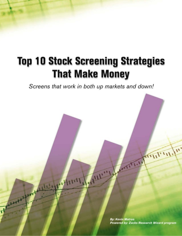 iZacks Investment Research, Inc. · Research Wizard · www.zacks.com/RW Table of Contents Introduction . . . . . . . . . . ....