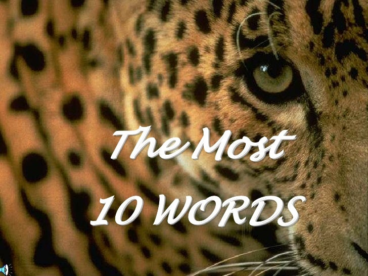The Most<br />10 WORDS<br />