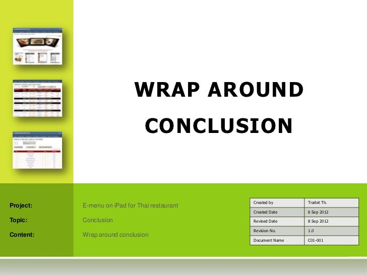 WRAP AROUND                                 CONCLUSION                                                Created by      Trai...