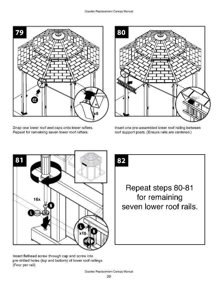 10 x 10 ft. gazebo assembly and instructions manual