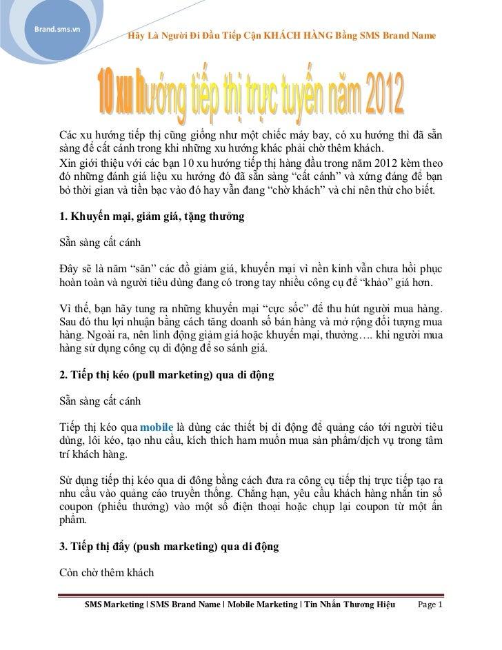 10 xu hướng tiếp thị trực tuyến 2012