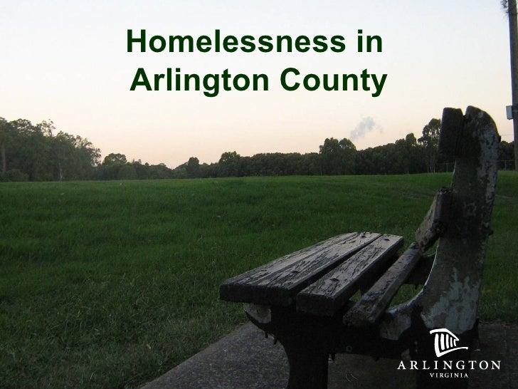 Homelessness in  Arlington County