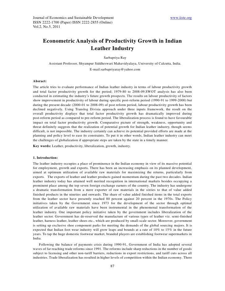 Journal of Economics and Sustainable Development                                                 www.iiste.orgISSN 2222-17...