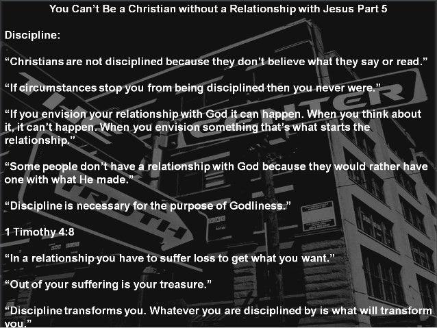 You Can't Be a Christian without a Relationship with Jesus Part 5