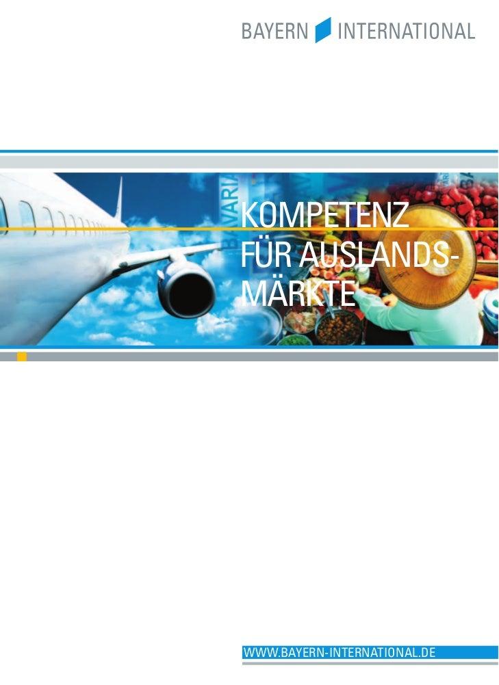 Bayern International Imagebroschüre