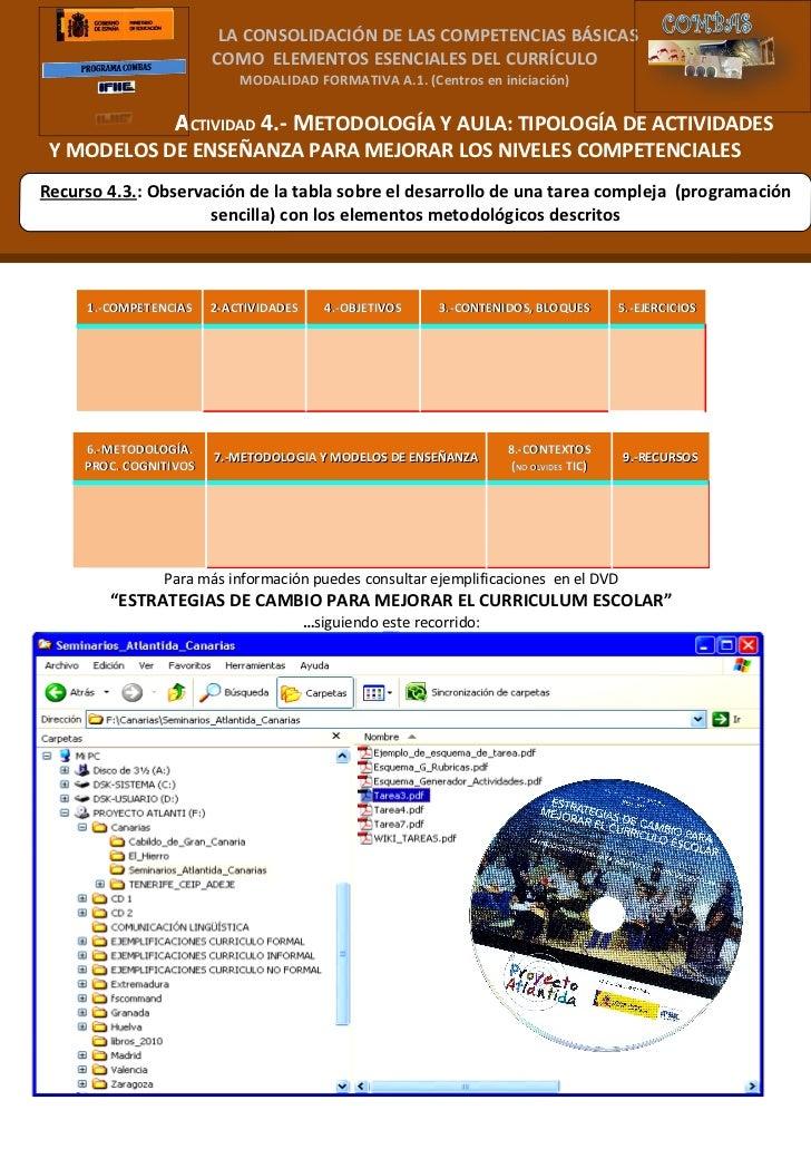 LA CONSOLIDACIÓN DE LAS COMPETENCIAS BÁSICAS                        COMO ELEMENTOS ESENCIALES DEL CURRÍCULO               ...