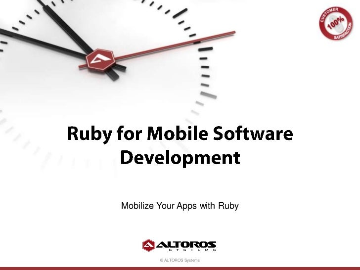 Ruby for Mobile Software Development<br />Mobilize Your Apps with Ruby<br />