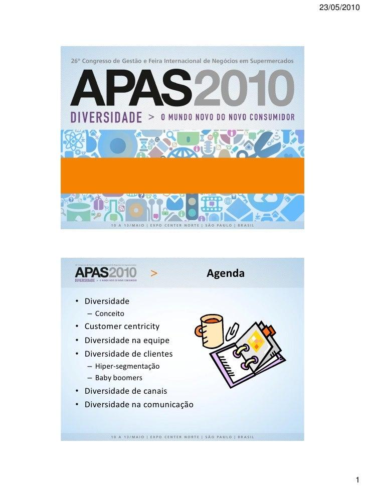 APAS 2010 - Palestra de Mauricio Morgado em 11/05