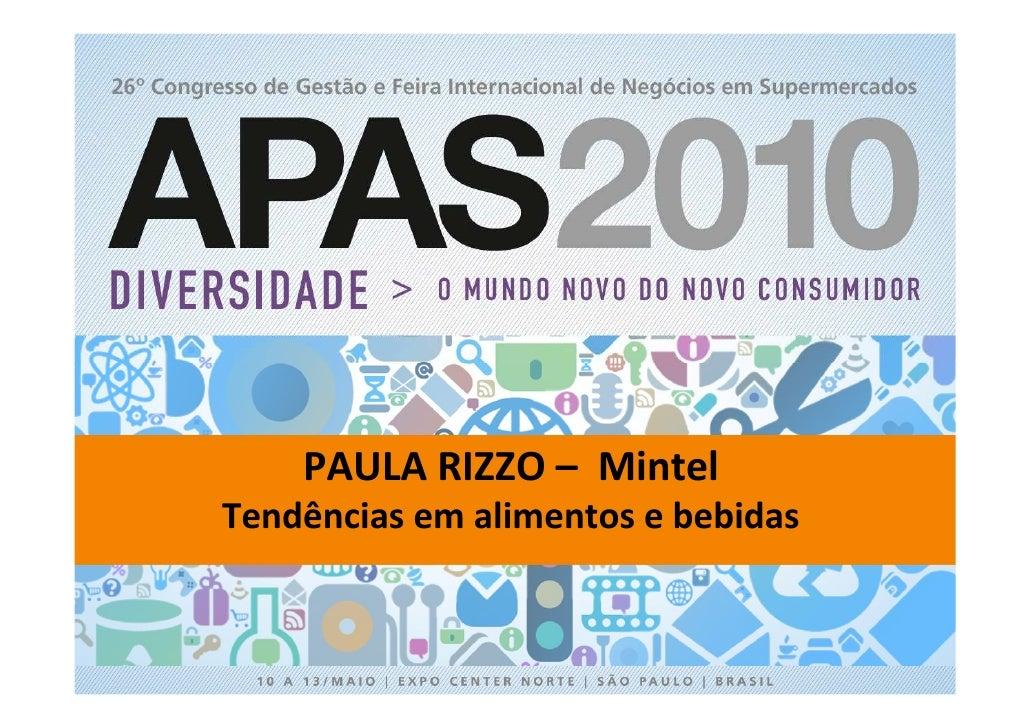 APAS 2010 - Palestra de Paula Rizzo em 11/05