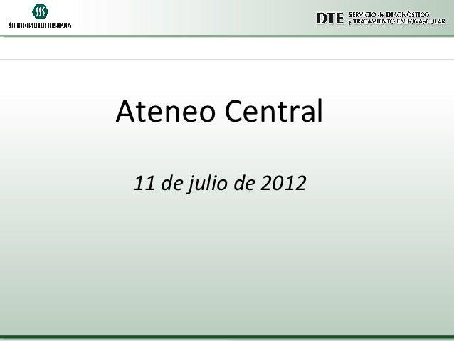 Ateneo Central 11 de julio de 2012