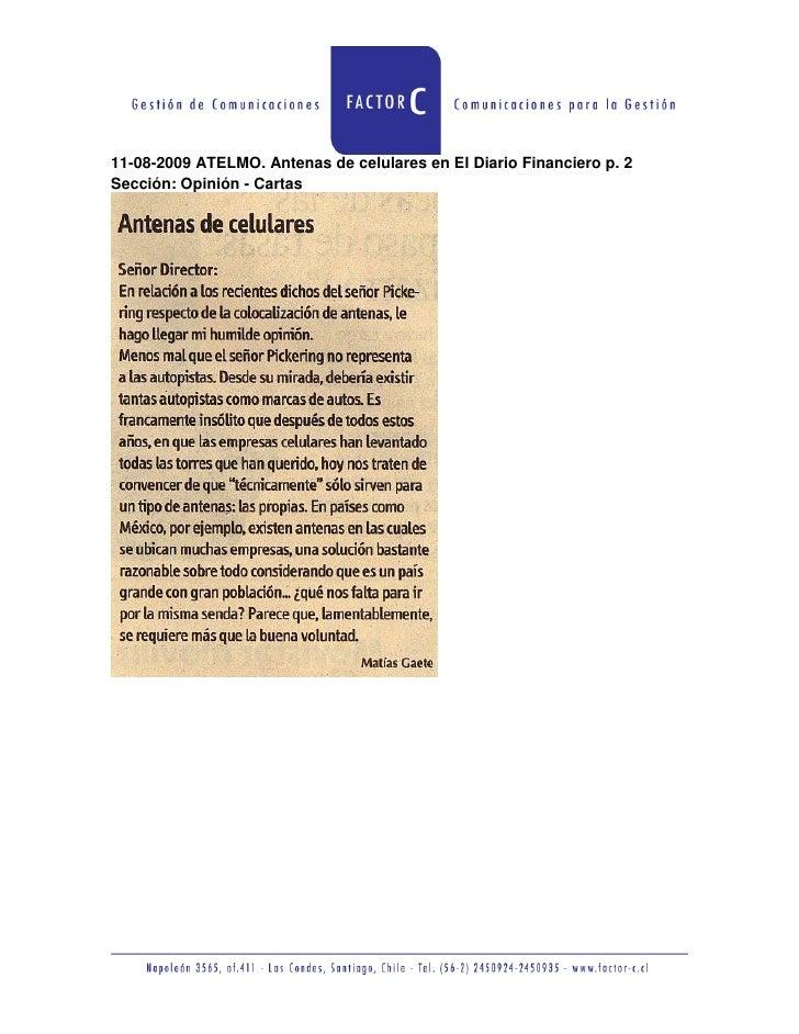 Antenas de celulares en El Diario Financiero p  2