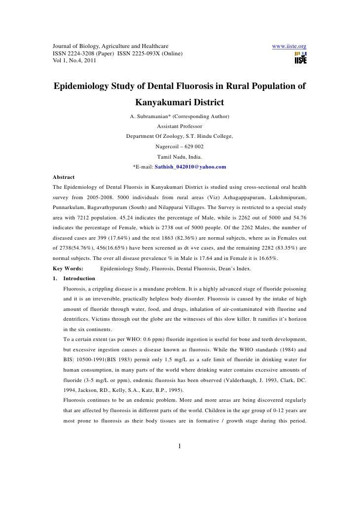 11.[1 10]epidemiology study of dental fluorosis in rural population of kanyakumari district - copy