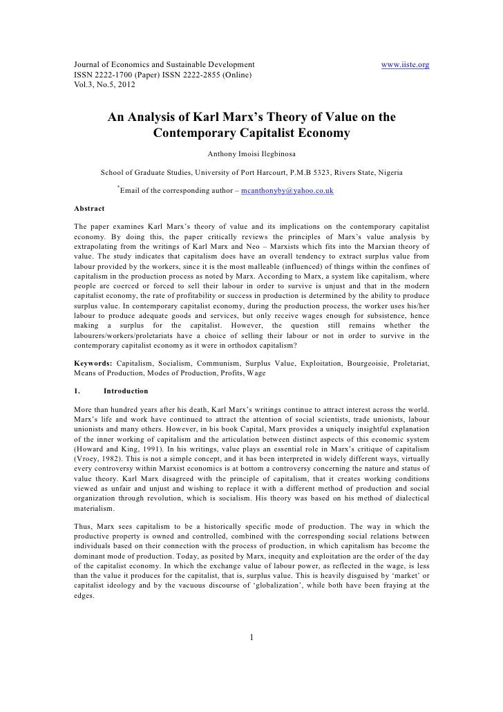 an analysis of the karl marxs theory of money and the theory of value What went wrong in karl marx's analysis in his theory of value or choose to put their own bent on his analysis that's for them was karl marx bad with money.
