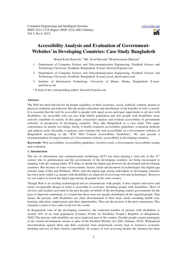 11.[1 9]accessibility analysis and evaluation of government websites in developing countries