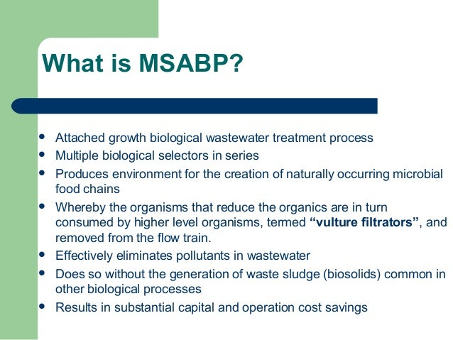 Multi Stage Activated Biological Process Msabp