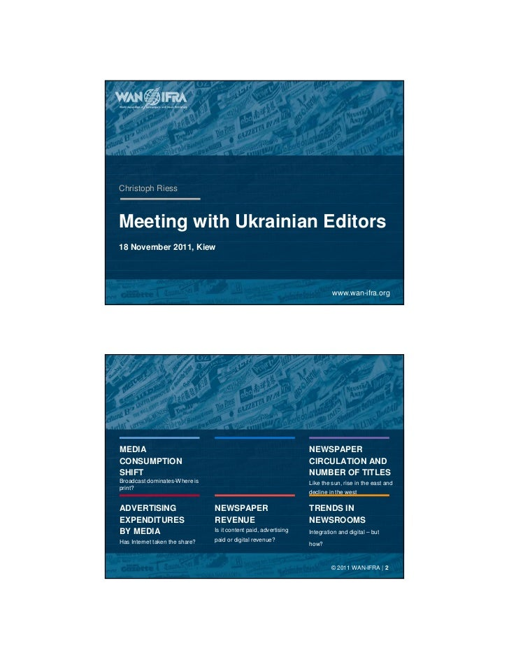 Christoph RiessMeeting with Ukrainian Editors18 November 2011, Kiew                                                       ...