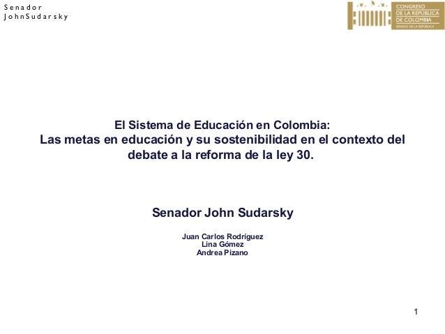 ley de la educacion en colombia: