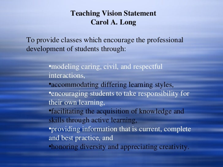Personal vision statement