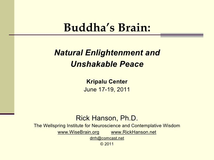 Buddha's Brain: Natural Enlightenment and Unshakable Peace - Rick Hanson, PhD