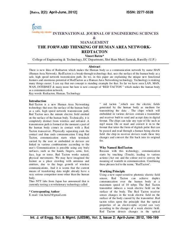 [Batra, 2(2): April-June, 2012]                                                  ISSN: 2277-5528                    INTERN...