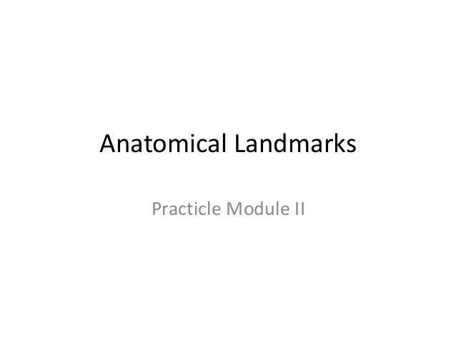 Anatomical Landmarks    Practicle Module II