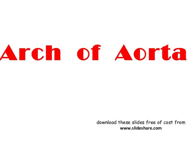Arch of Aorta download these slides free of cost from www.slideshare.com
