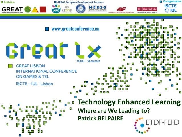 Patrick Belpaire technology enhanced learning   etdf