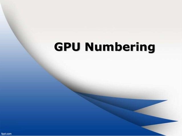 GPU Numbering