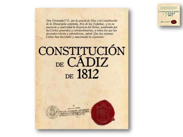 COMENTARIO DE TEXTO: LA CONSTITUCION DE 1812 En el nombre de Dios todopoderoso, padre hijo e Espíritu Santo y supremo legi...