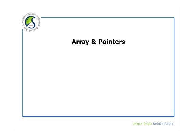 11. array & pointer