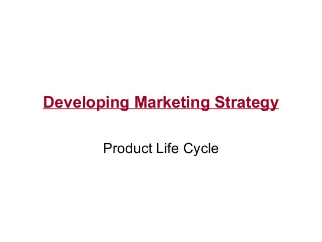 Developing Marketing Strategy Product Life Cycle