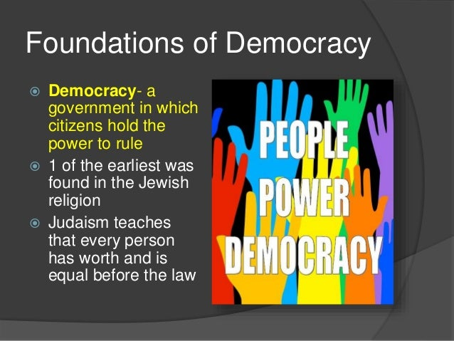 Democracy American Government Democracy a Government in