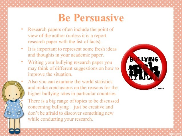Research Paper Bullying