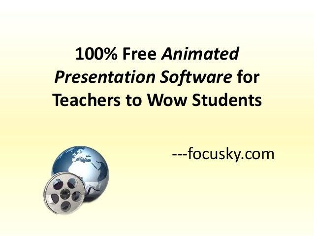 Presentation software for students