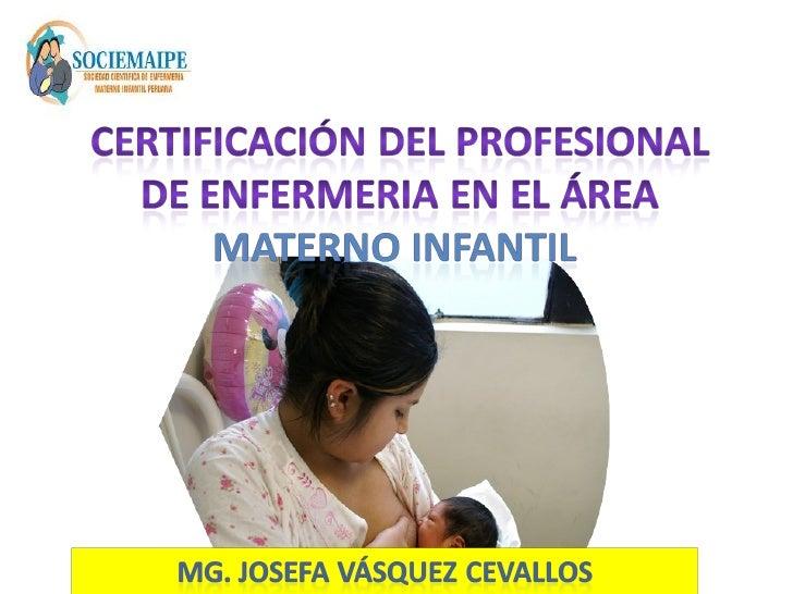 certificacion profesional: