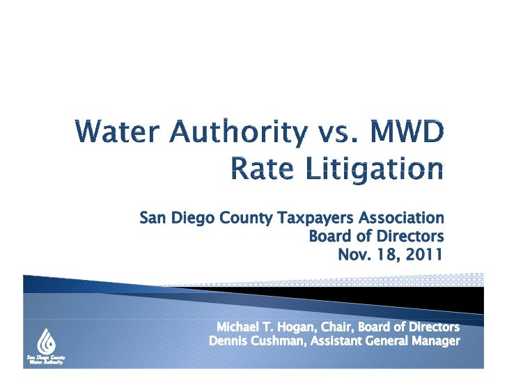 Water Authority vs. MWD Rate Litigation
