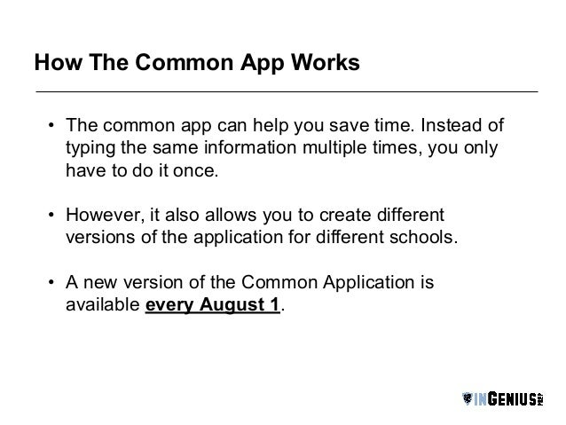 Question about the common app?