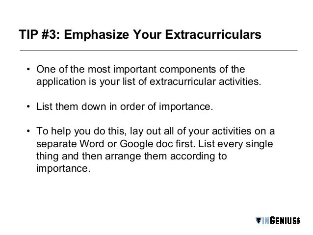 Essay about extracurricular