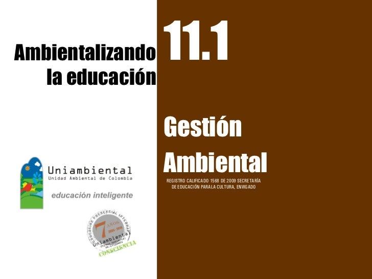 11.1 ambientalizando la educac
