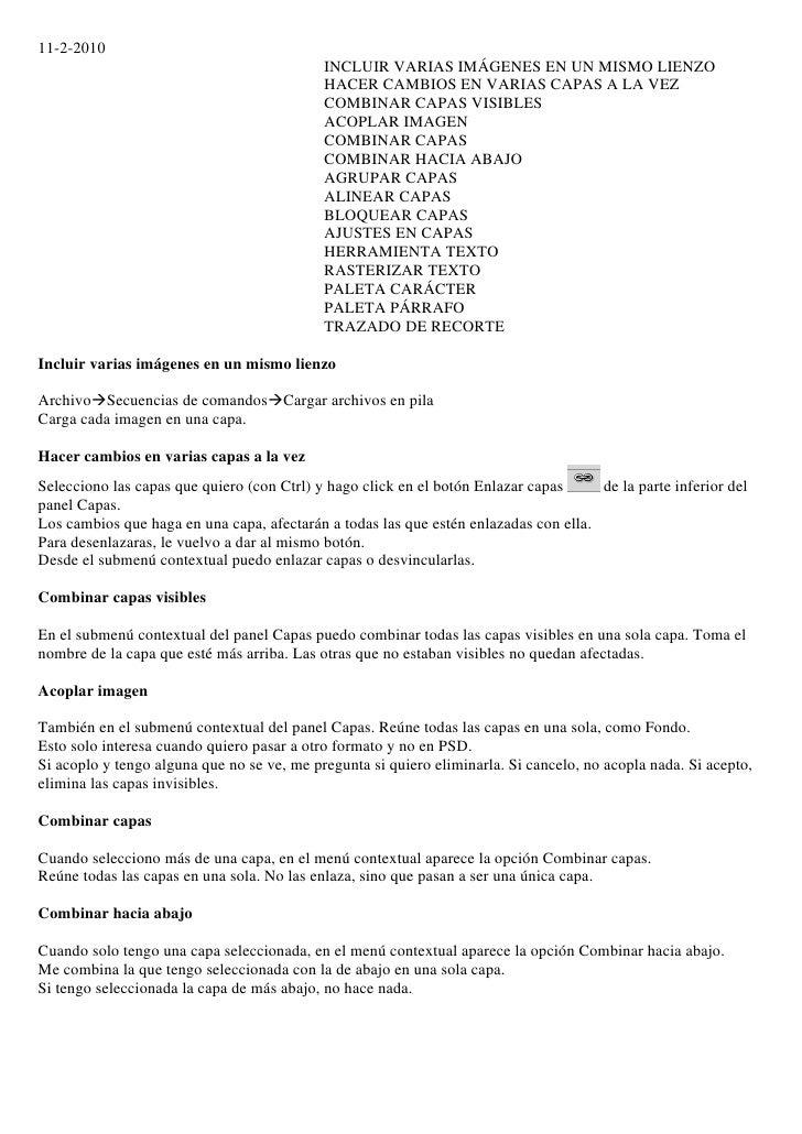 11-2-2010                                             INCLUIR VARIAS IMÁGENES EN UN MISMO LIENZO                          ...