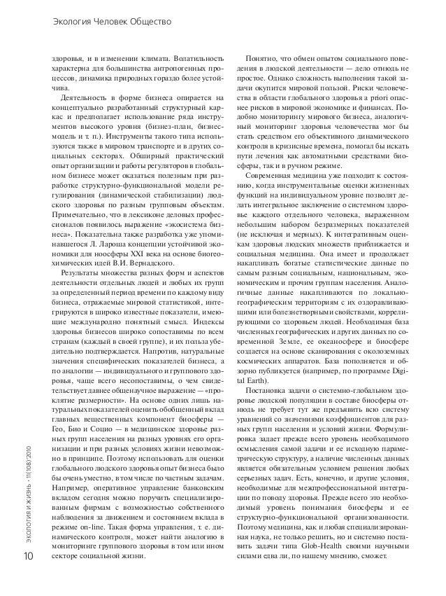 Экология Человек Общество
