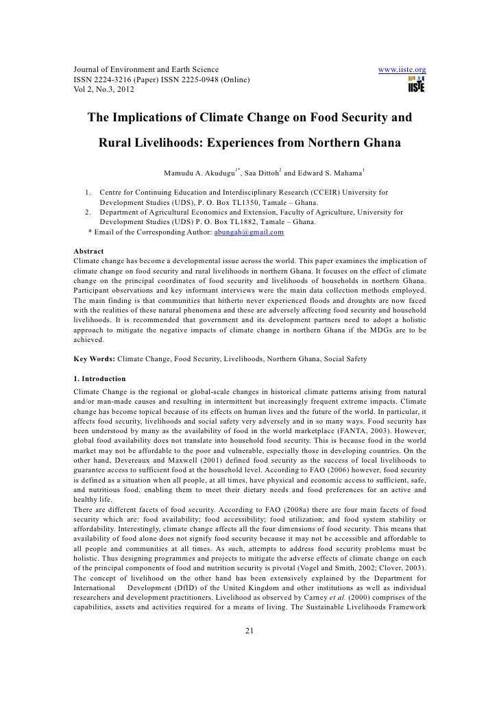 11.[21 29]the implications of climate change on food security and rural livelihoods