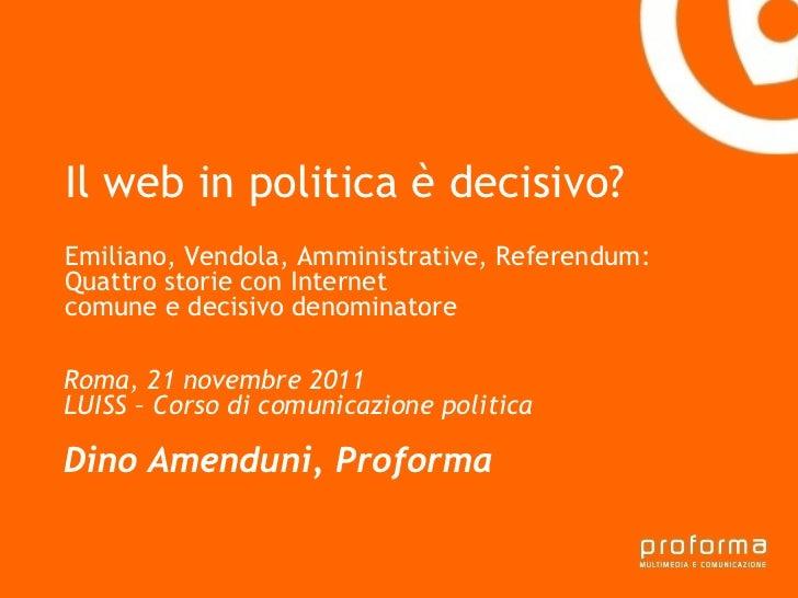 Strategia di comunicazione Gianni Florido e la Provincia di Taranto Il web in politica è decisivo? Emiliano, Vendola, Ammi...