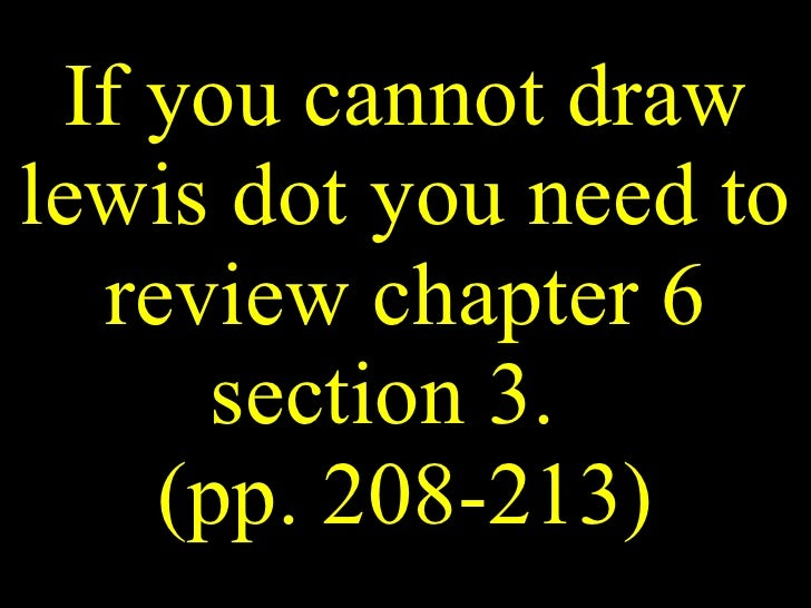If you cannot draw lewis dot you need to review chapter 6 section 3.  (pp. 208-213)