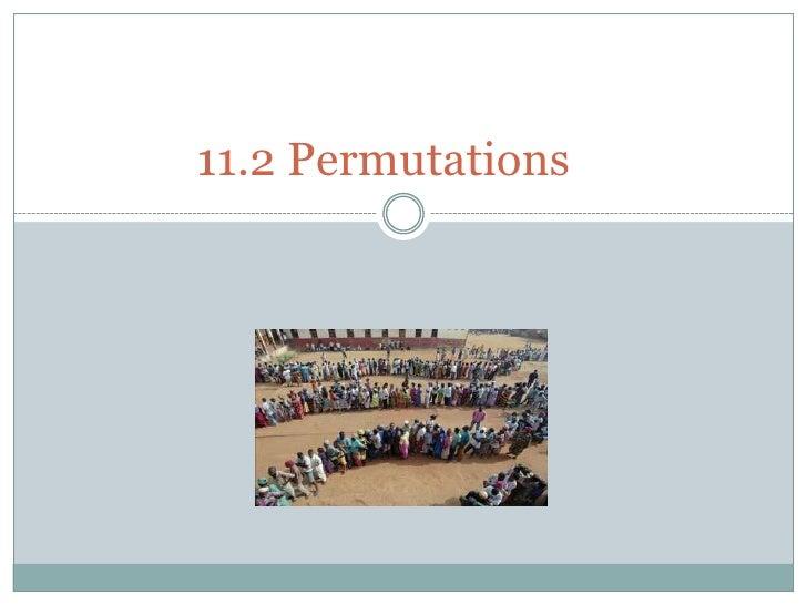11.2 Permutations