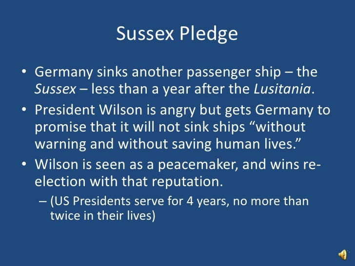 In the sussex pledge germany promised pic 960
