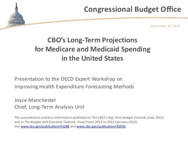 Cbo s long term projections for medicare and medicaid spending in the - Congressional budget office ...
