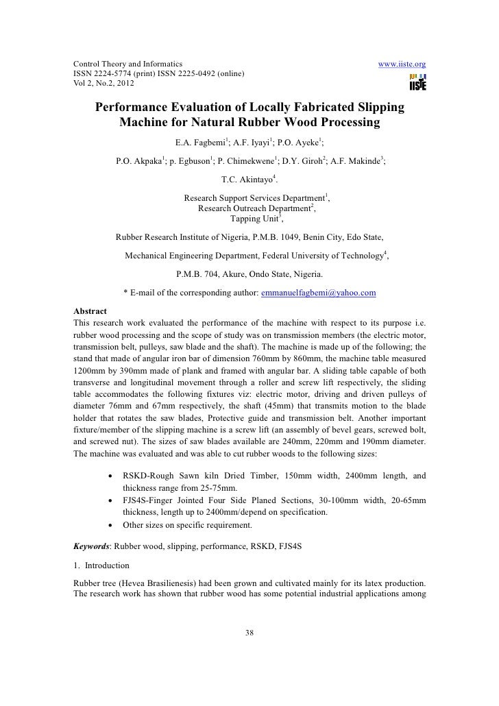 11.[38 48]performance evaluation of locally fabricated slipping machine for natural rubber wood processing