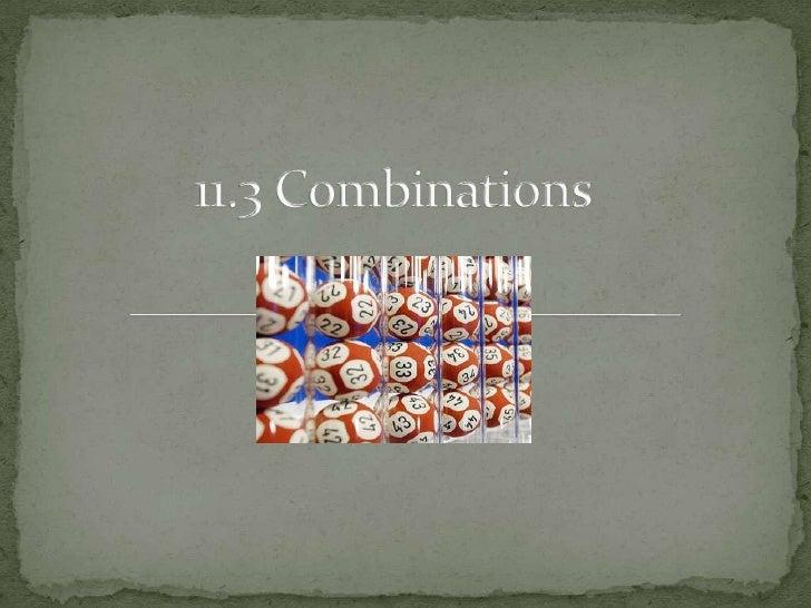 11.3 Combinations