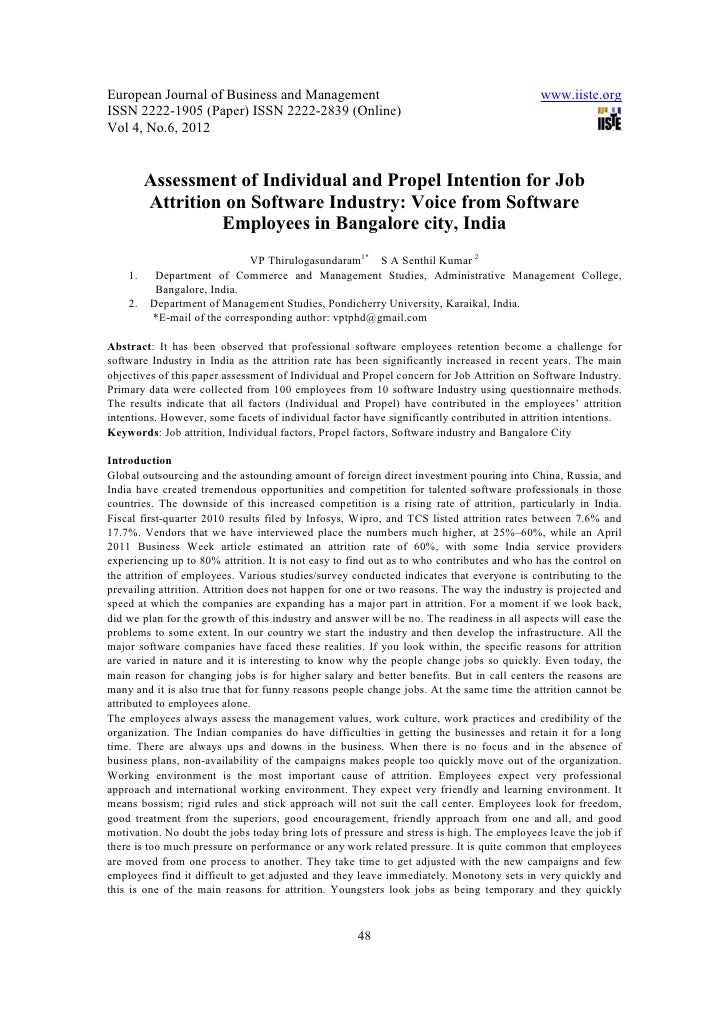 11.[48 56]assessment of individual and propel intention for job attrition on software industry